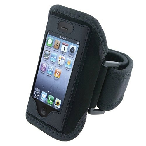 BLACK sports armband band case Compatible With iPhone? 4 4G iPhone? 4S - AT&T, Sprint, Version 16GB 32GB 64GB
