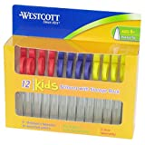 Westcott Kids Pointed Scissors with Storage Rack, 5