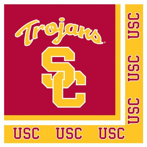 Creative Converting Unisex Adult USC Trojans Lunch Napkins Black Medium