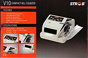 MONEY COUNTING MACHINE WITH FAKE NOTE DETECTOR STROB V 10 available at Amazon for Rs.2917