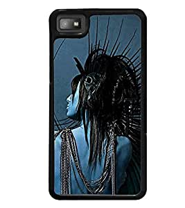 printtech Crazy Girl Back Case Cover for BlackBerry Z10