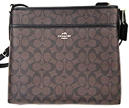 Coach Signature File Bag - Brown/Black