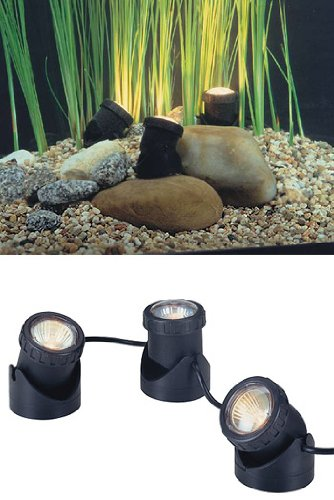30w Halogen Submersible Light for Water Gardens and Ponds, Set of 3