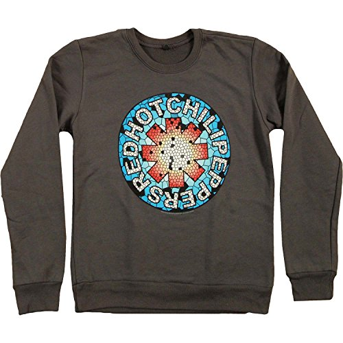 Red Hot Chili Peppers Mosaic Girls Jr Sweatshirt Small Grey (Red Hot Chili Peppers Crewneck compare prices)