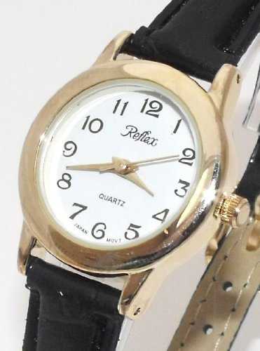 Reflex Ladies/Womens Fashion Watch-New-Gold/White-18cm