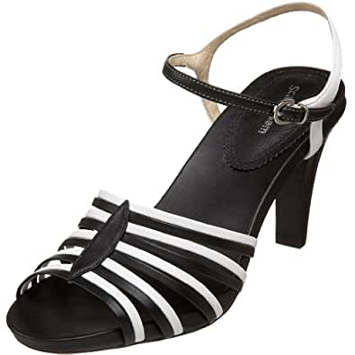 Amazon.com: Scarpe Diem Women's Clay Sandal,Black/White,6 M US: Shoes
