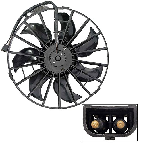 APDTY 731998 Radiator Cooling Fan Assembly Includes Fan Motor, Shroud & Blade For 1990 Volvo 740 / 1990-1991 Volvo 740GLE / 1987-1990 Volvo 760GLE / 1987-1991 Volvo 780 / 1991 Volvo 940 Tubro / 1991 Volvo 940GLE (Replaces 13789169) from APDTY