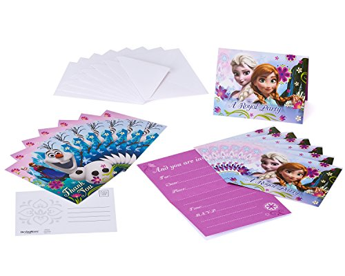 Frozen Invite and Thank You Combo, 8 Pack, Party Supplies