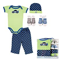 Luvable Friends 5-Piece Layette Set in Clear Box, Blue