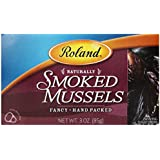 Roland Smoked Mussels, 3-Ounce Cans (Pack of 10)