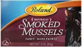 Roland Mussels, Smoked, 3 Ounce (Pack of 10)
