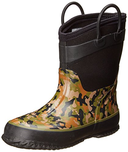 Western Chief Wilderness Camo Rain Boot (Toddler/Little Kid/Big Kid),Olive Green,4 M Us Big Kid front-708137