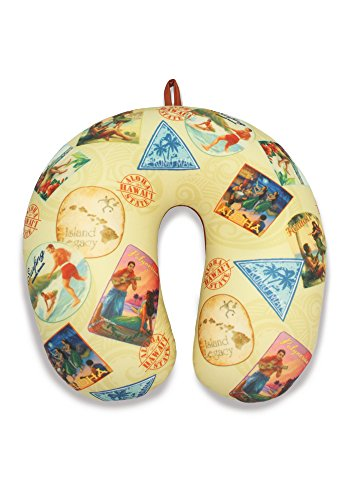Nostalgic Hawai'i Travel Pillow welcome to the jungle