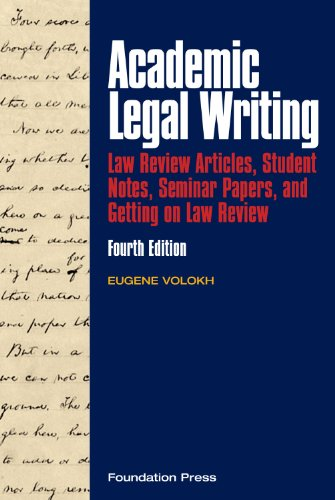 Volokh's Academic Legal Writing: Law Review Articles,...