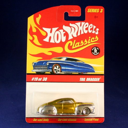 TAIL DRAGGER (GOLD & CHROME) 2006 Hot Wheels Classics 1:64 Scale SERIES 3 Die Cast Vehicle - 1