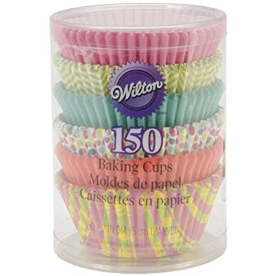 Wilton Assorted Spring Theme Baking Cups, 150-Pack