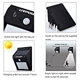 URPOWER Solar Lights 8 LED Wireless Waterproof Motion Sensor Outdoor Light for for Patio, Deck, Yard, Garden with Motion Activated Auto On/Off (4-Pack)