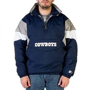 Dallas Cowboys Mens Starter 1 2 Zip Pullover Jacket by Dallas Cowboys