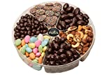 Call Me Nuts- Gourmet Nuts Gift Tray (2 lb) Delicious, Kosher -Jordan Assorted Almonds, Nonpareils Maxi, Chocolate Almonds, Chocolate Raisins, Chocolate Peanuts, Mixed Nuts Salted. Great for Holidays