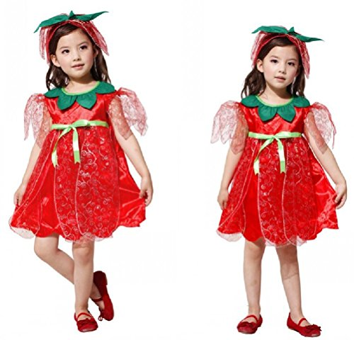 Purplebox Child Flower Fairy Princess Cosplay Halloween Costumes Snow White Dress