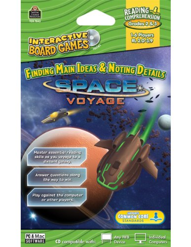 Teacher Created Resources Space Voyage Interactive Board Game Cd (7845)
