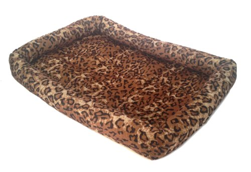 Leopard Print PET BED Cushion Pillow Mat – 17″ X 12″ Dogs, Cats, Puppies
