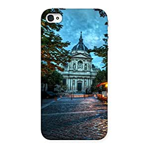 Cute Fort Vintage Back Case Cover for iPhone 4 4s