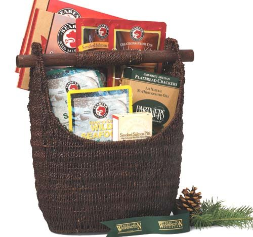 Made In Washington Captains Catch Gift Basket