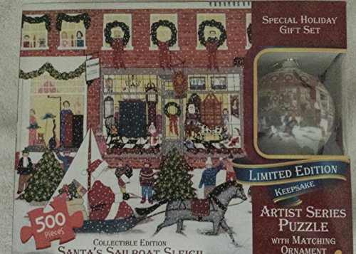 Artist Series Puzzle with Matching Ornament Winter Holiday Parade