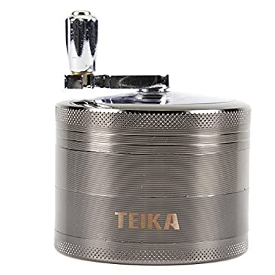 Tobacco/Spice Grinder Chromium Metal Herb Grinder with Mill Handle 4 Parts 2.5 Inches