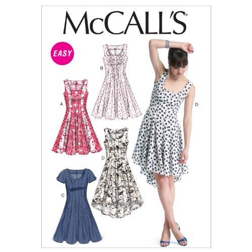 Bild Mc Calls Schnittmuster 6504 E5 Damen Kleid in 4 Varianten Gr. 14 ...