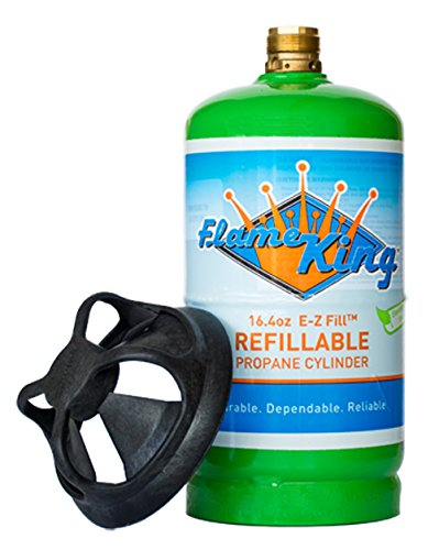 Flame King YSN164 Refillable 1 lb Propane Cylinder, 16.4 oz (Refillable Propane compare prices)