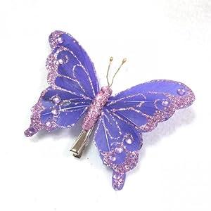 purple glitter butterfly