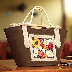 Amazon.com : Handcrafted Wool 'Tarma Earth' Handle Handbag (Peru
