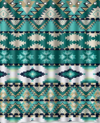 "New Waterproof Polyester Fabric, Aztec Tribal Pattern Shower Curtain 60"" X 72"" Inches With Fashion Design back-506848"