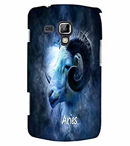 PrintVisa Zodiac Aries 3D Hard Polycarbonate Designer Back Case Cover for Samsung Galaxy S Duos S7562