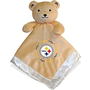 Pitsburgh Steelers Nfl Infant Security Blanket (14 In X 14 In) by BABY FANATIC