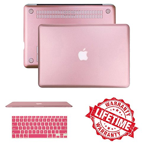 Macbook Pro Retina 13'' Case Cover, IC ICLOVER Ultra Slim and Light Weight Rubberized Matte Hard Case Cover & Keyboard Cover for Macbook Pro 13.3'' with Retina Display (A1502/A1425)-Rose Gold (Display Case Rose compare prices)