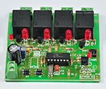 Learn Botton Infrared Switch Remote Control 4 Relay KIT 100% Tracking Number