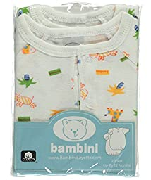 Bambini Baby Boys' ''Happy Animals'' 2-Pack Gowns - white, 0 - 12 months