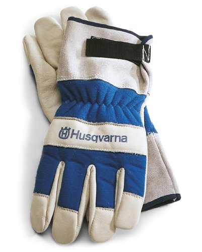 Husqvarna 531030767 Heavy Duty Leather Work Gloves, One Size
