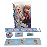 Disney Frozen Princess Anna Elsa & Olaf Stationary Set For Kids - Blue