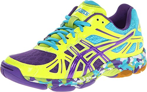 ASICS Women's GEL-Flashpoint Shoe,Flash Yellow/Prince Blue/Turquoise,8 M US
