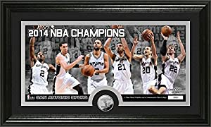 San Antonio Spurs 2014 NBA Finals Champions Panoramic Minted Coin Photo Mint by Highland Mint