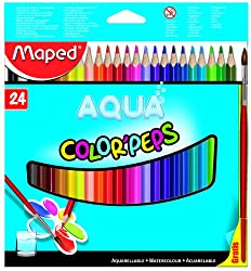Maped Water Color Peps With Brush Pack Of 24