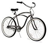 Firmstrong Urban Man Three Speed Beach Cruiser Bicycle, Matte Grey, 19 inch / Large