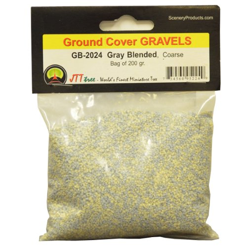 JTT Scenery Products Ballast and Gravel, Gray Blend, Coarse/200gm - 1