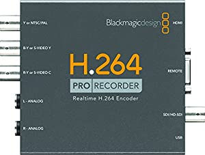 Blackmagic Design H.264 Pro Recorder, Distributes H.264 Video Files to Websites, YouTube, iPhone, iPad- Captures from All Popular Video Formats