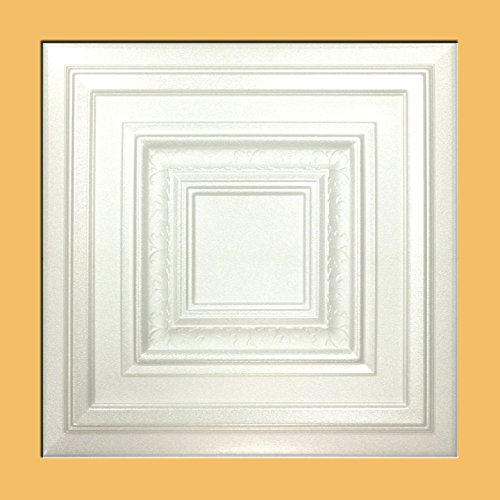 Antyx White (Foam) Ceiling Tile - Decorative Ceiling Tile Easy Glue up DIY