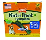 Nylabone Nutri Dent Petite Chicken Flavored Dental Bone Dog Treat, 125 Count